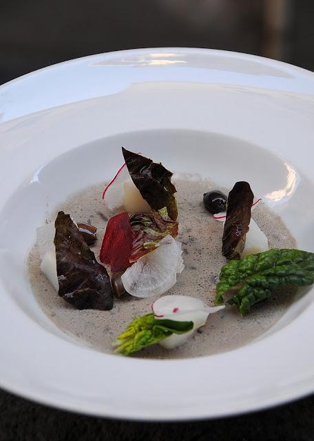 Baccalà royale di Taggiasche e verdure