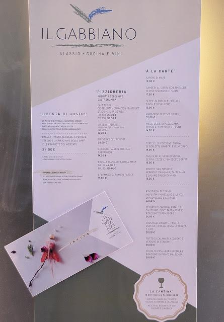Carta menù