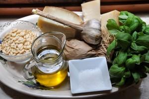 Gli ingredienti necessari per fare il Pesto alla Genovese